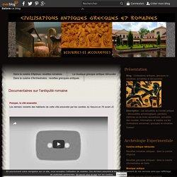 Documentaires sur l'antiquité romaine
