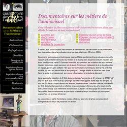 Documentaires sur les métiers de l'audiovisuel