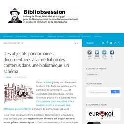 Des objectifs par domaines documentaires à la médiation des contenus dans une bibliothèque : un schéma