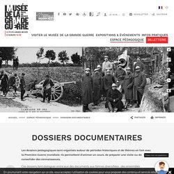 Dossiers documentaires sur différentes thématiques