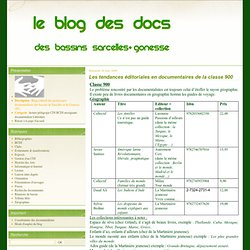 Les tendances éditoriales en documentaires de la classe 900 - Le blog des Documentalistes des Bassins de Sarcelles et de Gonesse