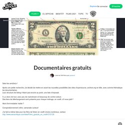 Documentaires gratuits - Liste de 152 films