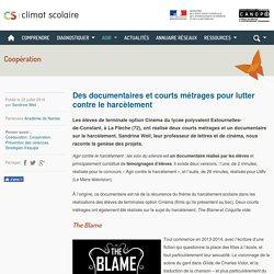 Climat scolaire - Des documentaires et courts métrages pour lutter contre le harcèlement