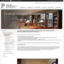 Centre de ressources documentaires