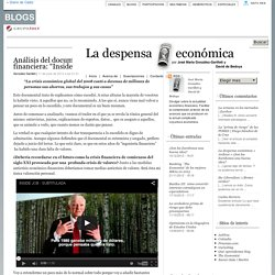 "La despensa económica » Archivo » Análisis del documental sobre la crisis financiera: ""Inside Job"""