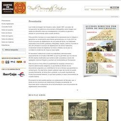 Fondo Documental Histórico de las Cortes de Aragón > Presentación