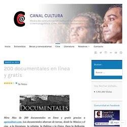 200 documentales en línea y gratis