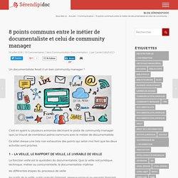 8 points communs entre le métier de documentaliste et celui de community manager