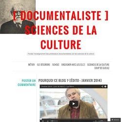 [ DOCUMENTALISTE ] sciences de la culture