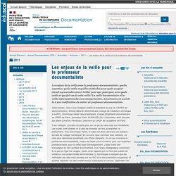 Les enjeux de la veille pour le professeur documentaliste — Documentation (CDI)