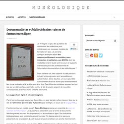 Documentalistes et bibliothécaires : pistes de formation en ligne