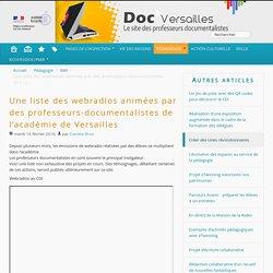 Une liste des webradios animées par des professeurs-documentalistes de l'académie de Versailles