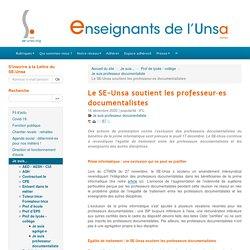 Le SE-Unsa soutient les professeur·es documentalistes - ENSEIGNANTS DE L'UNSA