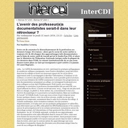 L'avenir des professeur(e)s documentalistes serait-il dans leur rétroviseur ? - InterCDI