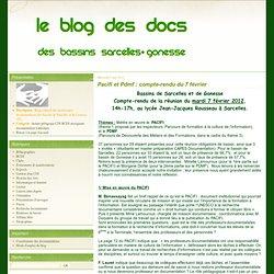 Pacifi et Pdmf : compte-rendu du 7 février - Le blog des Documentalistes des Bassins de Sarcelles et de Gonesse
