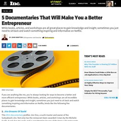 5 Documentaries That Will Make You a Better Entrepreneur