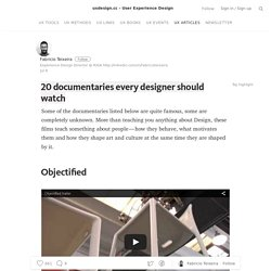 20 documentaries every designer should watch — uxdesign.cc – User Experience Design