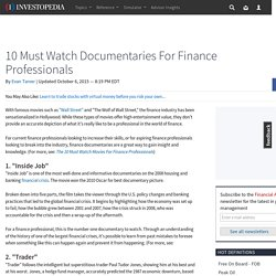 10 Must Watch Documentaries For Finance Professionals