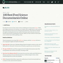 100 Best (Free) Science Documentaries Online | Online Universities - StumbleUpon