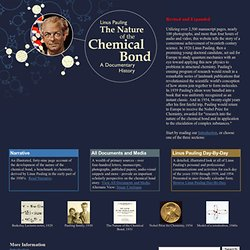 Linus Pauling and The Nature of the Chemical Bond: A Documentary History
