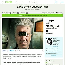 DAVID LYNCH DOCUMENTARY (LYNCH THREE) by LYNCH THREE PROJECT