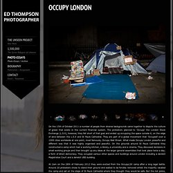 Ed Thompson photography - London Documentary Photographer
