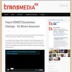Project CONNECT Documentary Challenge – The Winners Announced | Transmedia NZ