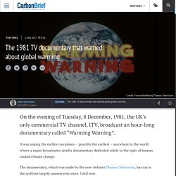 *****The 1981 TV documentary that warned about global warming
