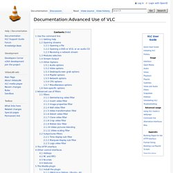 Documentation:Advanced Use of VLC