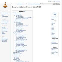 Documentation:Advanced Use of VLC