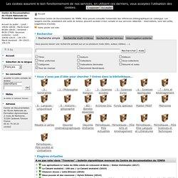 Catalogue en ligne Centre de Documentation de l'Ecole Nationale de Formation Agronomique