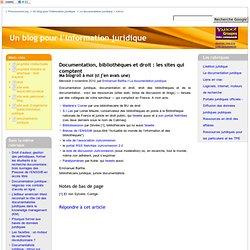 Documentation, bibliothèques et droit : les sites qui comptent