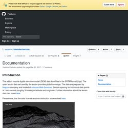 Documentation · vvoovv/blender-terrain Wiki