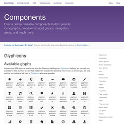 Components · Bootstrap 3.3.6 Documentation - BootstrapDocs