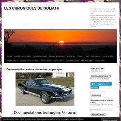 Documentation voiture anciennes, et pas que…