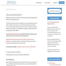 Documentation and list of commands for your Nginx server » Webinoly