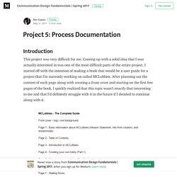Project 5: Process Documentation – Communication Design Fundamentals