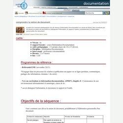 documentation - comprendre la notion de document