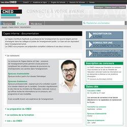 Capes documentation : prépa concours interne