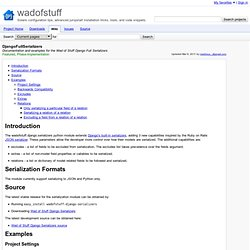 DjangoFullSerializers - wadofstuff - Documentation and examples for the Wad of Stuff Django Full Serializers - Solaris configuration tips, advanced jumpstart installation tricks, tools, and code snippets.