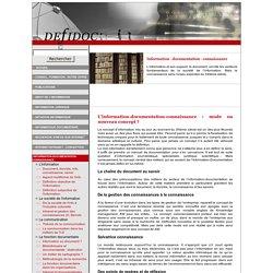 Information - Documentation - Connaissance