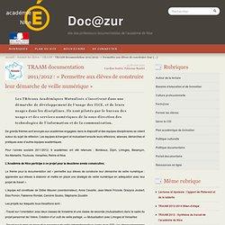 TRAAM documentation 2011/2012 : « Permettre aux élèves de construire leur démarche de veille numérique »
