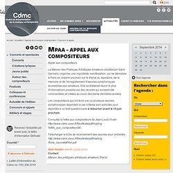 MPAA - Appel aux compositeurs