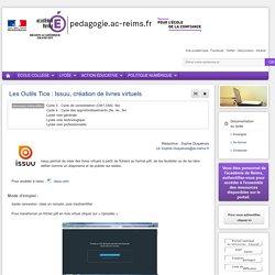 Se former Documentation lycée - Les Outils Tice : Issuu, création de livres virtuels