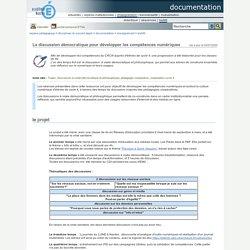 documentation - La discussion démocratique pour développer les compétences numériques