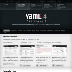 Documentation & Demos – YAML CSS Framework