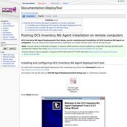 Documentation:DeployTool - OCS Inventory NG