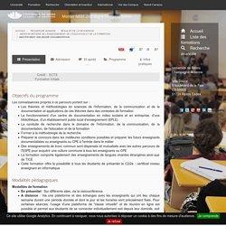 Master MEEF 2nd degré Documentation - description- Formations de l'Université de Reims Champagne-Ardenne