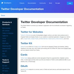 API Documentation | dev.twitter.com