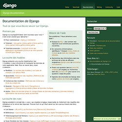 Documentation de Django — Documentation de Django 1.1.1